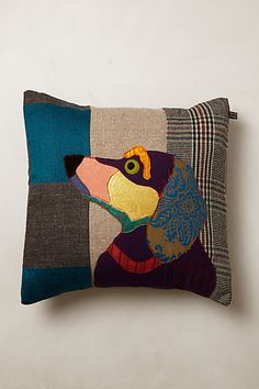 Patchwork Hound Pillow   #anthropologie  very cute but pricey  $198