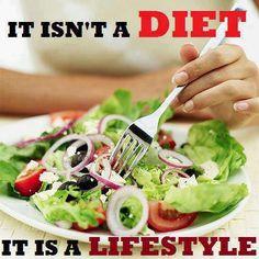 It isn't a Diet, it's a Lifestyle