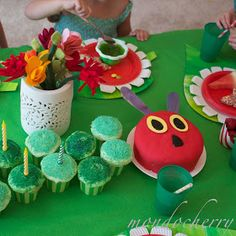 A small bite of mondocherry: hungry caterpillar party...