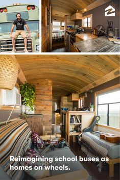 These customized living spaces give new meaning to 'mobile homes'. sell my house for cash - how to sell my house for cash?Sell my house for cash in ANY STATE! Bus Living, Tiny House Living, Living Spaces, Living Room, Home Renovation, Tyni House, Lego House, Casa Hotel, Pallet Desk