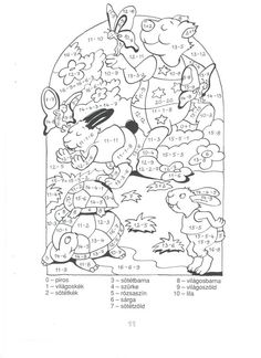 Számolós színező 20-ig - boros.patricia - Picasa Webalbumok Math For Kids, Math Activities, Coloring Pages, Snoopy, 1, Classroom, Marvel, Fictional Characters, Adhd