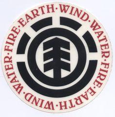 Element Skateboards. Earth-Wind-Water-Fire logo. Skate sticker.