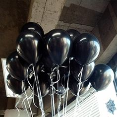 10 unids globo de aire de látex negro bolas kid flotador inflable 1.5g decoración del banquete de boda de cumpleaños globos kids toys td0014bk