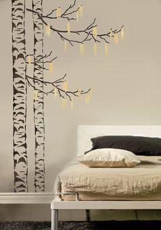 Large Tree Stencil Beautiful Birches par CuttingEdgeStencils