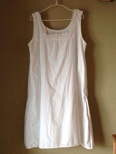 Vintage white cotton nightdress