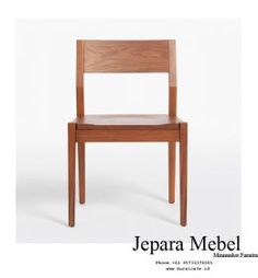 Kursi Restoran Minimalis Kayu Jati - Jepara Mebel - Jual Kursi Cafe Murah Cafe Furniture