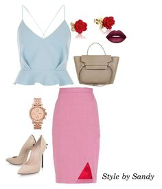 """SATIN5"" by sandrine-sandy-ashimwe on Polyvore featuring River Island, Altuzarra, Casadei, Disney, FOSSIL and Lime Crime"