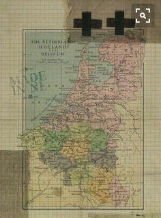 Collage Art, Vintage World Maps, Wallpaper, Poster, Holland, Wallpapers, Billboard