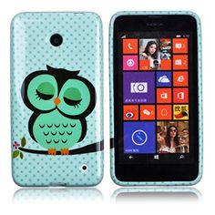 Voguecase® Para Nokia Lumia 630/635, TPU Funda de Silicona de Gel Carcasa Tapa Case Cover (búho soñoliento) + Gratis aguja de la pantalla stylus universales - http://www.tiendasmoviles.net/2016/01/voguecase-para-nokia-lumia-630635-tpu-funda-de-silicona-de-gel-carcasa-tapa-case-cover-buho-sonoliento-gratis-aguja-de-la-pantalla-stylus-universales/