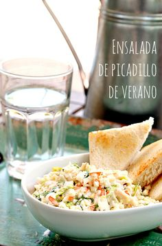 Ensalada de picadillo de verano Salad Recipes, Diet Recipes, Dessert Recipes, Healthy Recipes, Food Porn, Seafood Recipes, Tapas, Macaroni And Cheese, Food And Drink