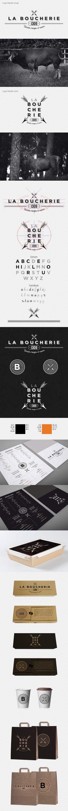 La boucherie by Thomas Roger-Veyer, via Behance