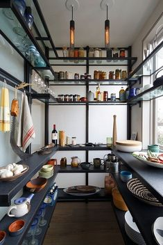 Check out the storage in this cool pantry.