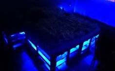 DIY Pallet bed with LED Lighting