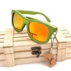 af426d97413 Unisex Wood Sunglasses Polarized UV 400 Protection with Wood Box