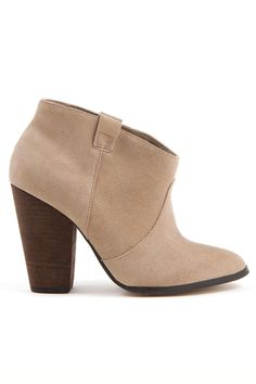 Blush Suede Booties / Charles David