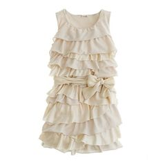 ruffle flower girl dress, jcrew..with navy bow or printed belt