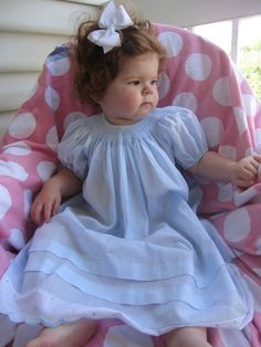 Blue smocked toddler dress  size 18 months by chrisarnold08, $99.00