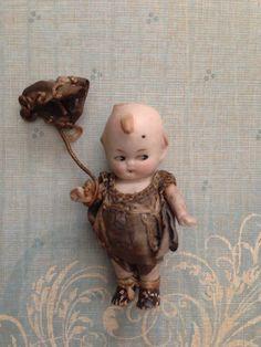Tiny Antique Vintage Bisque Flirty Eye Googly Kewpie Doll on Etsy, $49.00