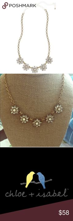 """Mirabelle Petite Collar Necklace by Chloe + Isabel Abstract Florals take shape in a Romantic Vintage-Inspired design. Also see the Matching """"Mirabelle Earrings"""" listing in my closet. 🔹Original List Price $58🔹                                              •Antique Gold-Plated/Nickel-Free •18"""" Approx. Length •Clear Crystal Chloe + Isabel Jewelry Necklaces"""