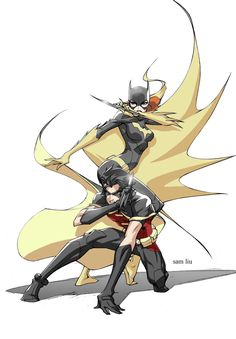 Batgirl and Robin