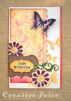 Creative Juice: Celebrate! with the May Inspiration Journal Challenge  w/ stencil monoprint