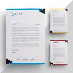 Inspiration for as described in the brief. Company Letterhead Template, Letterhead Sample, Letterhead Business, Letterhead Design, Branding Design, Footer Design, Header Design, Envelope Design, Identity