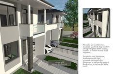 Proiectul are o arhitectură modernă (parter & etaj) ce oferă un raport optim dintre spațiu, utilitate si costuri reduse de întreținere. Încăperile sunt luminoase, lumina naturală fiind prezentă tot timpul zilei, dimineața în partea din spate si după prănz în partea din față a casei. House, Ideas, Home, Haus, Houses, Thoughts, Homes