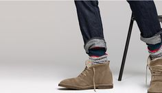 Do fall the right way: combine camp socks with suede shearling-lined MacAlister boots