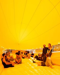 Inflatable yellow theatre barge pops-up on east London canal Architecture Foundation, London Architecture, Set Sail, East London, Electronic Music, Pop Up, Theatre, Sailing, How To Plan