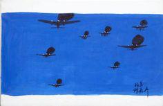 The Krasnals: Tanie Sasnale z Chin/Samoloty; 2008, canvas print, oil, 60 x 40 cm