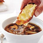 Onion Mushroom Soup With Cheese Croutes recipe - Canadian Living