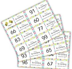 Domino and lotto games around numbers 60 to 99 Lotto Games, Math Numbers, Home Schooling, Learn French, Best Teacher, Learning Resources, Teaching Math, Online Business, Periodic Table