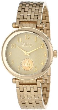 Vivienne Westwood Women's VV051CPGD Primrose Gold Tone Stainless Steel Swiss Quartz Watch