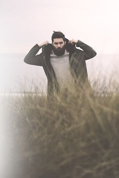 beardbrand:  Chris John Millington in the rain (chrisjohnmillington)