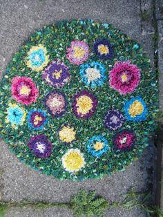 Hand-made rag rug.