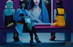 Ruby Aldridge by Miles Aldridge for Vogue Italia March 2014 5