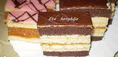 Érdekel a receptje? Kattints a képre! Hungarian Desserts, Hungarian Cake, Vanilla Cake, Tiramisu, Baking, Ethnic Recipes, Food, Caramel, Bakken