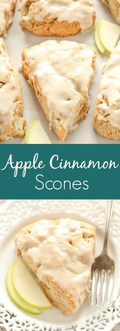Apple Cinnamon Scones are a perfect blend of delicious apples and savory cinnamon spice! These scones are not dry and bland. These Apple Cinnamon Scones are filled with chopped apple, spices, and are incredibly soft and tender. Apple Recipes, Baking Recipes, Dessert Recipes, Scone Recipes, Brunch Recipes, Donut Recipes, Baking Tips, Baking Ideas, Pumpkin Recipes
