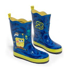 More than just a pair of boots, these playful puddle magnets make a wonderful gift. Lovely rain boots from Kidorable. Made of natural rubber, they are guaranteed to be the cutest boots in your neighborhood. Featuring a royal blue SpongeBob SquarePants des