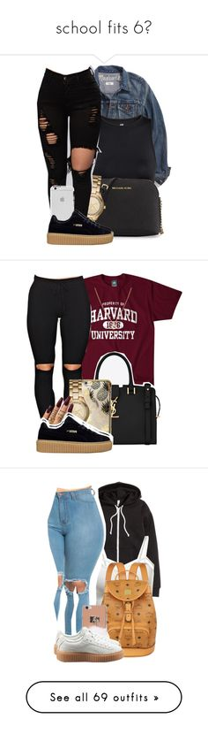 """school fits 6"" by locaalvibess ❤ liked on Polyvore featuring Madewell, H&M, MICHAEL Michael Kors, Michael Kors, Finn, Yves Saint Laurent, Skinnydip, WithChic, BCBGeneration and MCM"