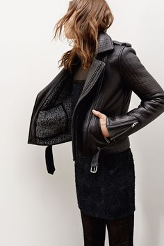 black leather | Maje Fall 2014