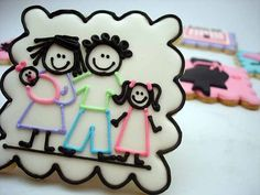 stick people cookie. Fun gift idea for new mommies.