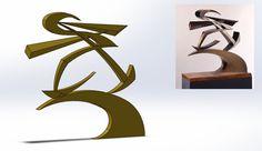 """Giacomo Balla's sculpture """"Linee di forza del pugno di Boccioni"""""""