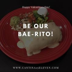 Food is our #Love language. Visit us online by following the link in our profile to make your reservation. Slots are filling up fast. #Cantina1511 #parkroad #uptown #stonecrest #baerito #ValentinesDay