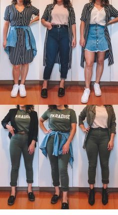 Equipamiento, accesorios y ropa de viajes Curvy Girl Outfits, Plus Size Outfits, Trendy Outfits, Fall Outfits, Fashion Outfits, Curvy Girl Style, 2000s Fashion, Fashion Hacks, Hijab Fashion