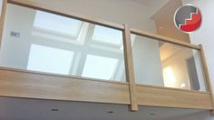 Glass staircase Panels l Groove Recessed Handrails Oak Handrail, Staircase Handrail, Wooden Staircases, Banisters, Stair Railing, Glass Stairs, Concrete Stairs, Wood Stairs, House Stairs