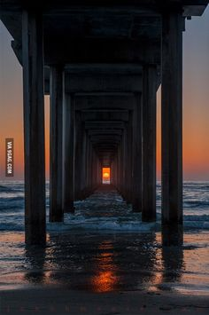 The sun sets like this only twice a year