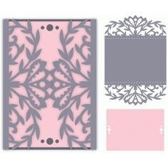 Silhouette Design Store - View Design #78332: ornate floral gatefold card
