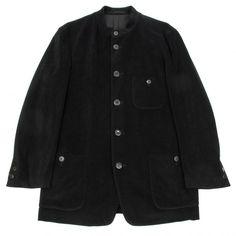 イッセイミヤケメンISSEY MIYAKE MEN スタンドカラーパイルジャケット 黒M