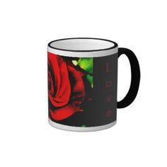 Red Rose LOVE Mug